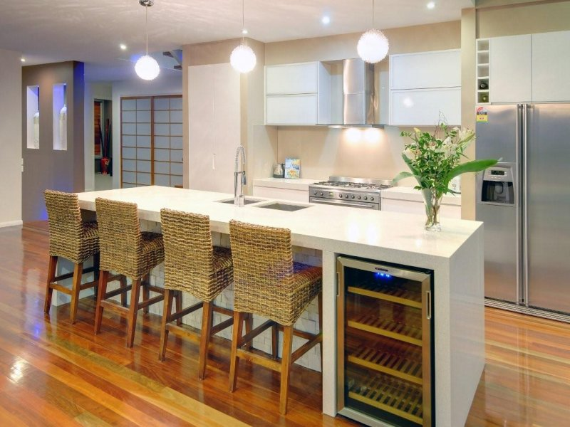Floorboards in a kitchen design from an Australian home - Kitchen Photo 378229