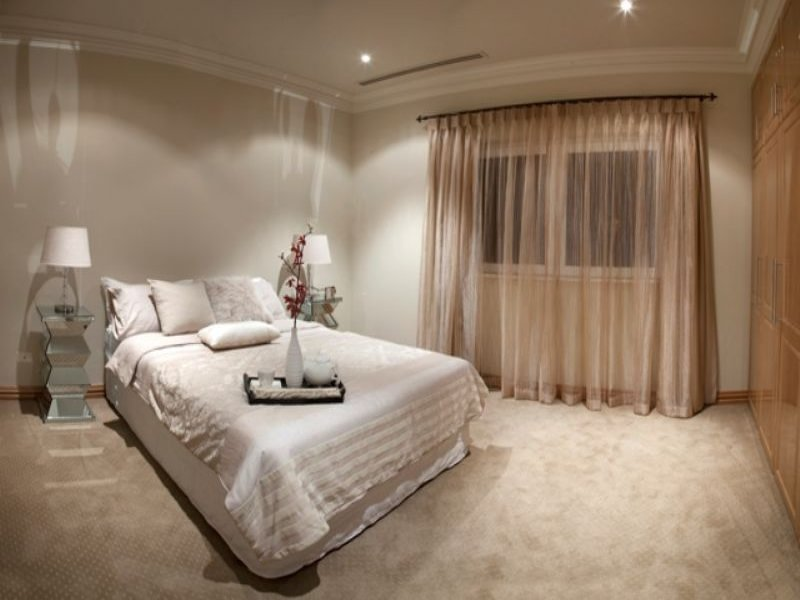 Romantic bedroom design idea with carpet built in for Bedroom carpet colours