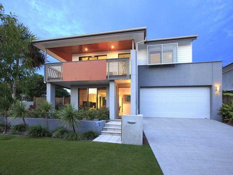 Concrete Modern House Exterior With Balcony Decorative