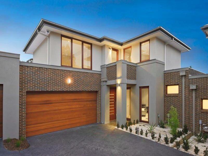 Photo of a brick house exterior from real australian home for Exterior house facades