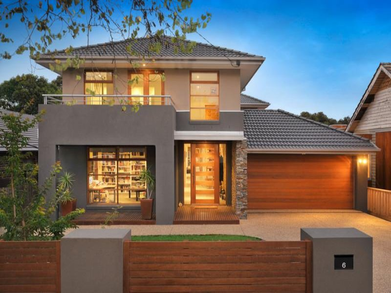 Photo of a pavers house exterior from real australian home for Exterior house facade ideas