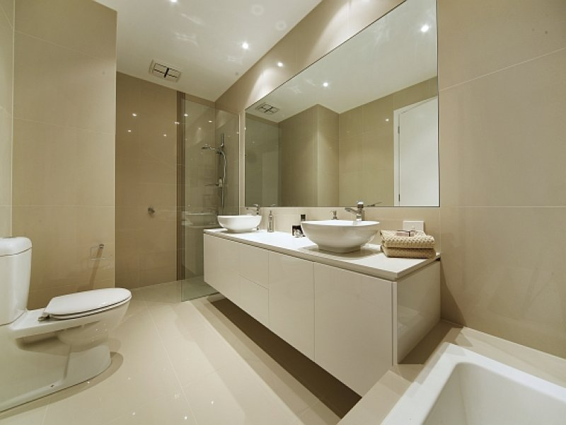 Modern Bathroom Design With Corner Bath Using Ceramic Bathroom Photo
