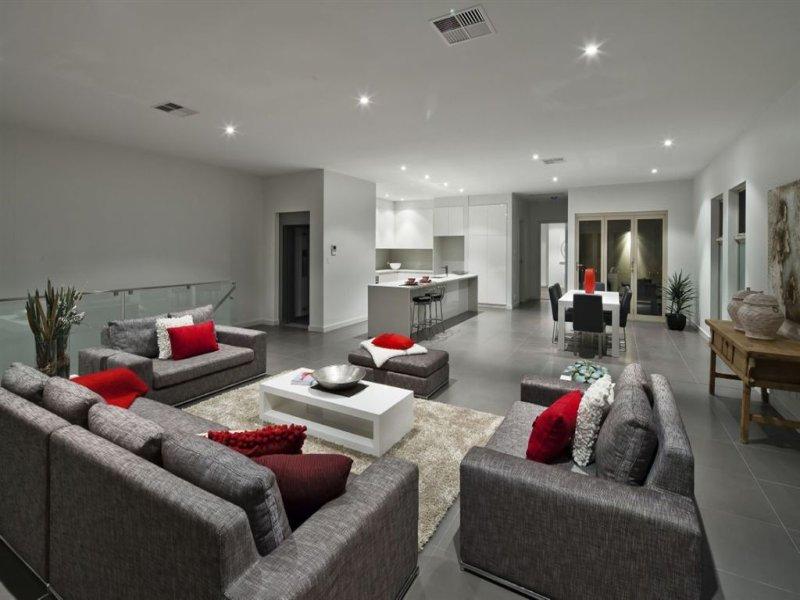 Grey living room idea from a real australian home living for Interior design ideas living room australia