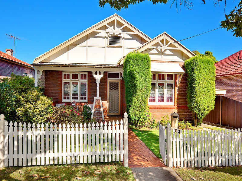 Brick Californian Bungalow House Exterior With Picket