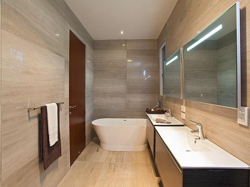 Modern Bathroom Design With Freestanding Bath Using Ceramic Bathroom Photo