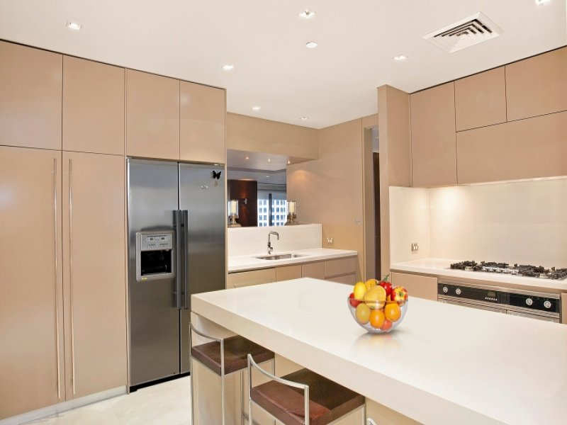Down Lighting In A Kitchen Design From An Australian Home Kitchen Photo 796096