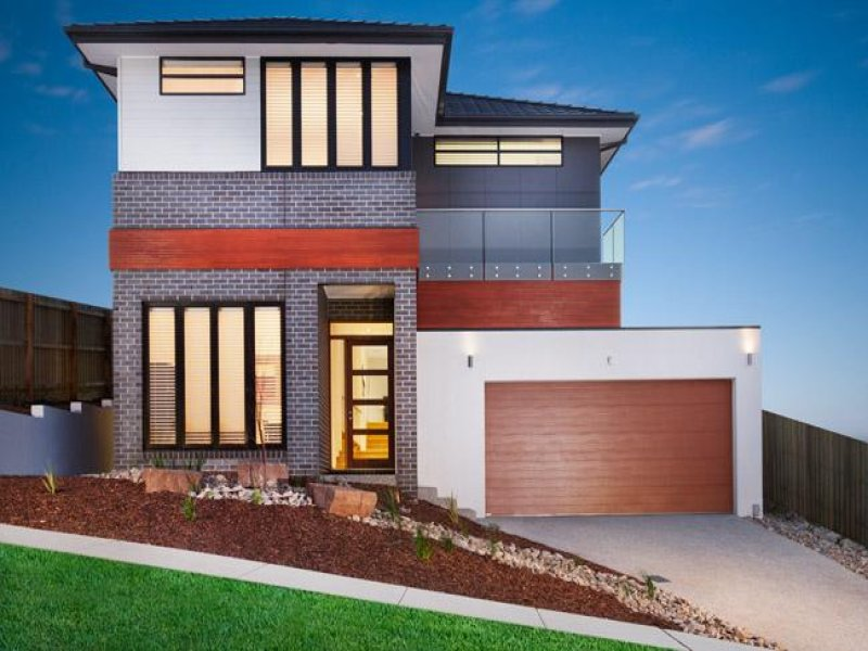 Photo of a brick house exterior from real australian home for Split level home designs melbourne