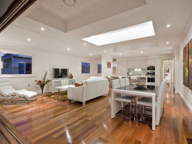 Modern kitchen-living kitchen design using floorboards - Kitchen Photo 353361