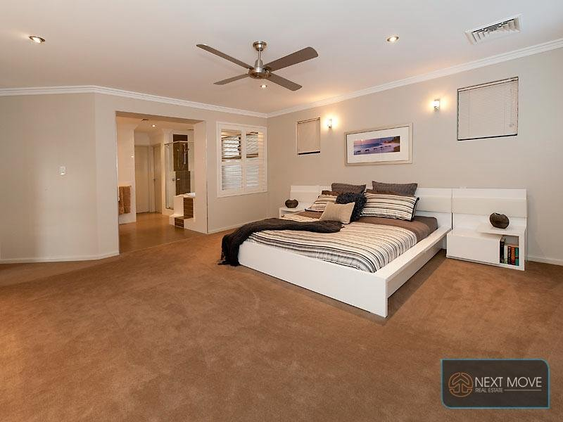 modern bedroom design idea with carpet built in desk using neutral colours bedroom photo 1429605