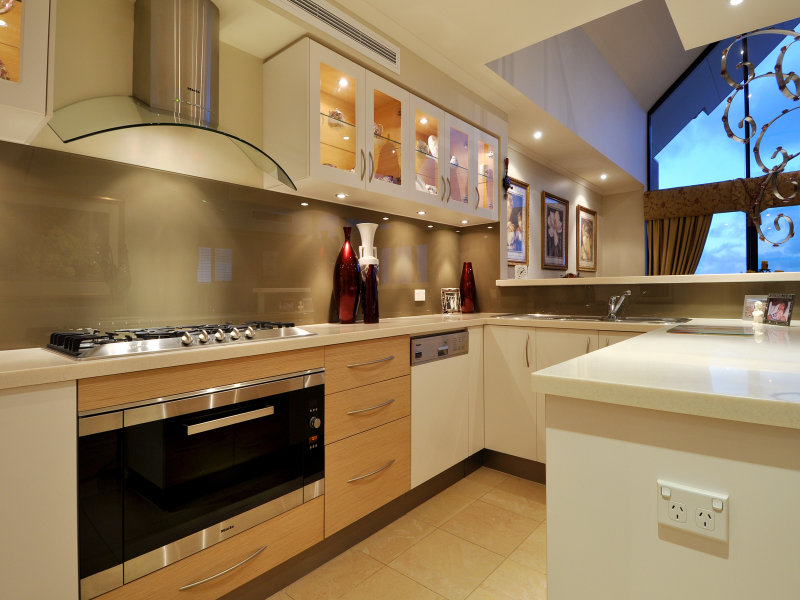 Modern U Shaped Kitchen Design u-shaped kitchen design using tiles - kitchen photo 1344496