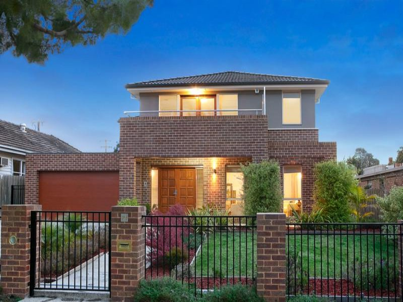 Photo of a brick house exterior from real australian home for Face brick homes