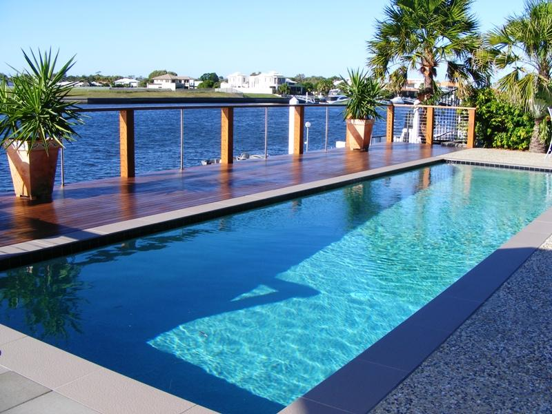 Photo of a modern pool from real australian home