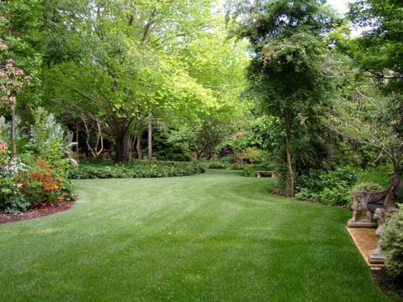 Landscaped Gardens garden design: garden design with home flower gardens wallpaper