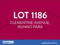 Lot 1186, Clementine Avenue (Playford Alive), Munno Para, SA 5115