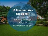 13 Bowman Avenue, Castle Hill, NSW 2154