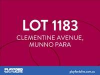Lot 1183, Clementine Avenue (Playford Alive), Munno Para, SA 5115