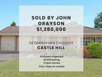 34 Battlement Crescent, Castle Hill, NSW 2154