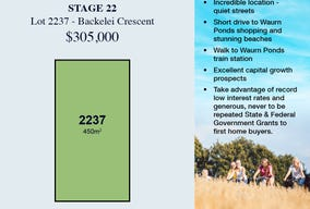 Lot 2237, 30 Backelei Crescent, Grovedale, Vic 3216