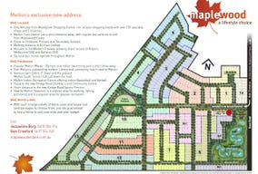 Lot 830, (448m2) Land East Facing Melton South Maplewood Estate, Melton South, Vic 3338