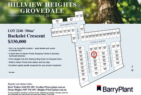 Lot 2248, Backelei Crescent, Grovedale, Vic 3216