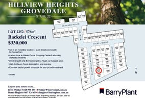 Lot 2252, Backelei Crescent, Grovedale, Vic 3216