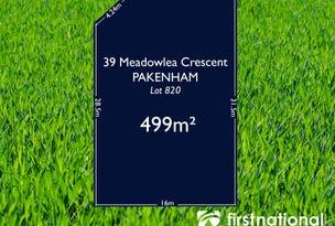 39 Meadowlea Crescent, Pakenham, Vic 3810
