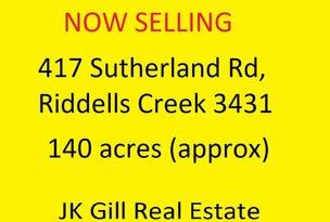 417 Sutherlands Road, Riddells Creek, Vic 3431