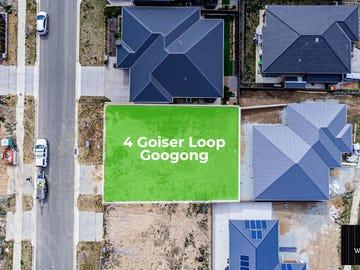 Lot 438, 4 Goiser Loop, Googong, NSW 2620