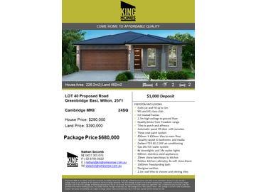 Lot 40  Proposed Road Greenbridge East, Wilton, NSW 2571