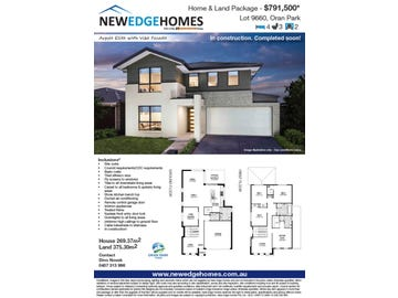 Lot 9660 24 Burgmann St, Oran Park, NSW 2570