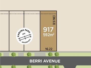 Lot 917, Berri Avenue, Officer South, Vic 3809