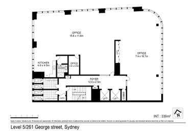 Level 5, 261  George Street Sydney NSW 2000 - Floor Plan 1