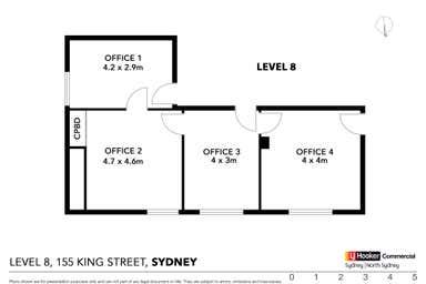 Level 8, 74 & 75/155 King Street Sydney NSW 2000 - Floor Plan 1