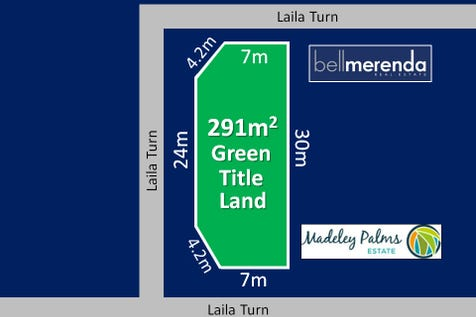 19 Laila Turn, Madeley, 6065, North East Perth - Residential Land / 291m2 GREEN TITLE LAND in Madeley Palms Estate (10m wide frontage x 30m long with truncation) / $250,000