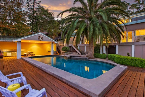 14 Copacabana Drive, Copacabana, 2251, Central Coast - House / Impressive Entertainer in Idyllic Coastal Setting / Outdoor Entertaining Area / Outside Spa / Swimming Pool - Inground / Carport: 4 / Built-in Wardrobes / Dishwasher / Ducted Cooling / Floorboards / Gas Heating / Intercom / Study / P.O.A