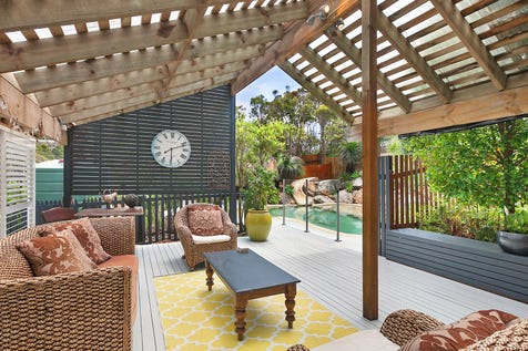 43 Boos Road, Forresters Beach, 2260, Central Coast - House / Living spaces showcase high ceilings and combustion fireplace / Garage: 2 / P.O.A