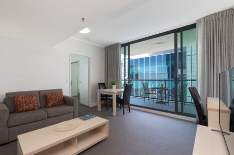 3908/128 Charlotte Street, Brisbane City, 4000, Inner Brisbane - Apartment / Pack your suitcase - fully furnished, one bedroom in Charlotte Towers ready to live in or rent out!  / Secure Parking / Air Conditioning / Built-in Wardrobes / Gym / Intercom / Study / P.O.A