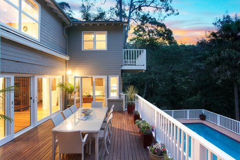 26 Loquat Valley Road, Bayview, 2104, Northern Beaches - House / Contemporary Pittwater living  / Fully Fenced / Open Spaces: 2 / Secure Parking / Air Conditioning / Built-in Wardrobes / Study / Ensuite: 1 / $1,800,000