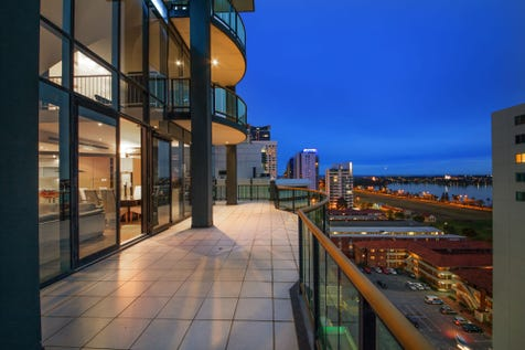 58/255 Adelaide Terrace, Perth, 6000, Perth City - Apartment / LIVE ON TOP OF THE WORLD / Balcony / Deck / Garage: 2 / Built-in Wardrobes / Dishwasher / Indoor Spa / Reverse-cycle Air Conditioning / Ensuite: 2 / $1,450,000