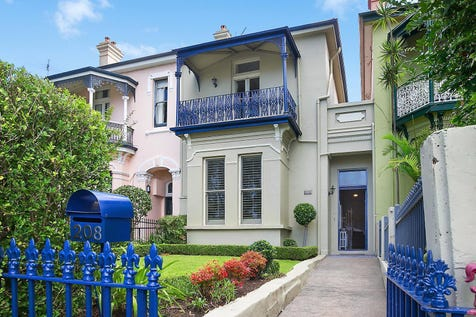 208 Glebe Point Road, Glebe, 2037, Inner West - House / Grand c1881 Victorian terrace of timeless elegance / Balcony / Carport: 2 / Air Conditioning / Built-in Wardrobes / Dishwasher / $3,200,000