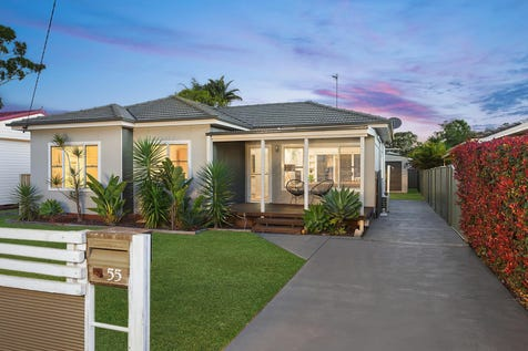 55 Dunban Road, Woy Woy, 2256, Central Coast - House / Charming and stylish renovated family home on level block / Carport: 1 / $650,000