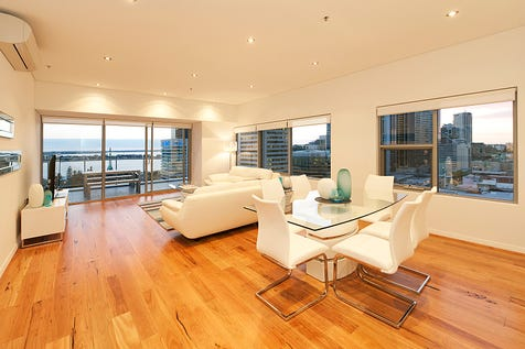 98/580 Hay Street, Perth, 6000, Perth City - Apartment / Simply Stunning Apartment with River & City Views – Equus Level17 / Balcony / Courtyard / Deck / Fully Fenced / Outdoor Entertaining Area / Outside Spa / Swimming Pool - Inground / Garage: 2 / Remote Garage / Secure Parking / Broadband Internet Available / $995,000