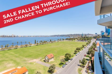 807/108 Terrace Road, East Perth, 6004, Perth City - Apartment / MILLION DOLLAR VIEWS FOR UNDER A MILLION / Balcony / Garage: 1 / Secure Parking / Air Conditioning / Built-in Wardrobes / $850,000