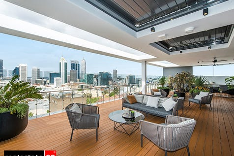 1804/105 Stirling Street, Perth, 6000, Perth City - Apartment / BRAND NEW Manhattan style apartment with views to die for! / Balcony / Swimming Pool - Inground / Garage: 2 / Secure Parking / Air Conditioning / P.O.A