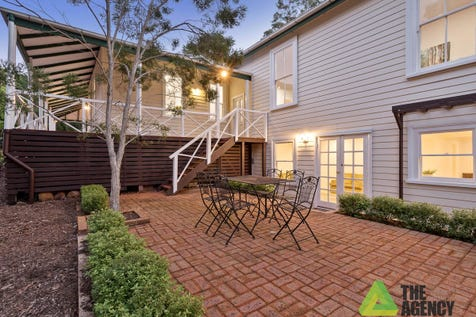 "27 Hartung Street, Mundaring, 6073, North East Perth - House / ""Hartung House"" (circa 1905) / Balcony / Deck / Fully Fenced / Garage: 2 / Broadband Internet Available / Built-in Wardrobes / Dishwasher / Floorboards / Open Fireplace / Study / Ensuite: 5 / Living Areas: 3 / Toilets: 6 / $1,250,000"