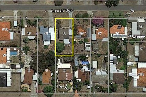 41 Connell Way, Girrawheen, 6064, North East Perth - Residential Land / 693 SQM VACANT BLOCK ZONED R20/40 / $300,000