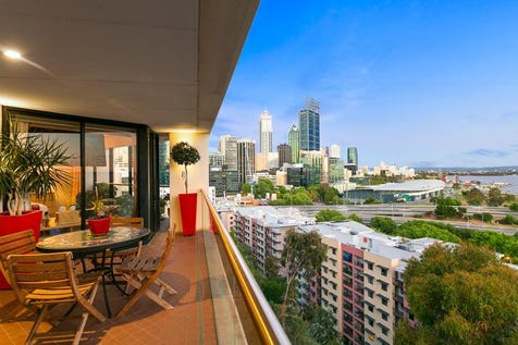 6A/63 Mount Street, West Perth, 6005, Perth City - Apartment / PENTHOUSE - RIVER, CITY AND PARK VIEWS / Balcony / Garage: 3 / Secure Parking / Air Conditioning / Floorboards / Study / Toilets: 2 / P.O.A