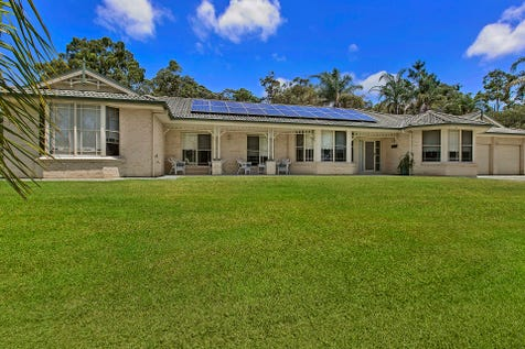 101 Webber Road, Wyee, 2259, Central Coast - House / Striking Design, five star quality - 2.5 Acres / Deck / Fully Fenced / Outdoor Entertaining Area / Shed / Swimming Pool - Inground / Carport: 1 / Garage: 4 / Remote Garage / Alarm System / Built-in Wardrobes / Dishwasher / Ducted Cooling / Study / $1,150,000