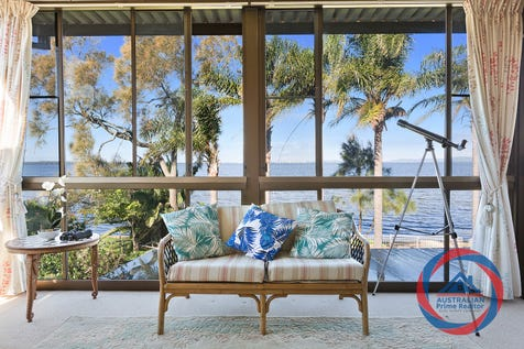 50 Marks Road, Gorokan, 2263, Central Coast - House / Prime Foreshore Locale / Balcony / Deck / Outdoor Entertaining Area / Shed / Garage: 3 / Open Spaces: 1 / Remote Garage / Secure Parking / Air Conditioning / Broadband Internet Available / Built-in Wardrobes / Dishwasher / Floorboards / Indoor Spa / P.O.A