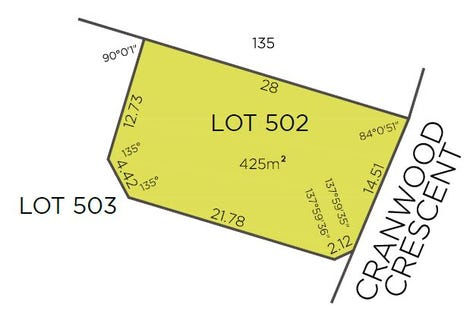 Lot 502, 30 Cranwood Crescent, Viveash, 6056, North East Perth - Residential Land / Large 425sqm vacant lot / $245,000